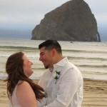 Pedro & Elisabeth at Haystack Rock
