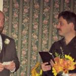 Officiant & Innkeeper Ron presiding over wedding