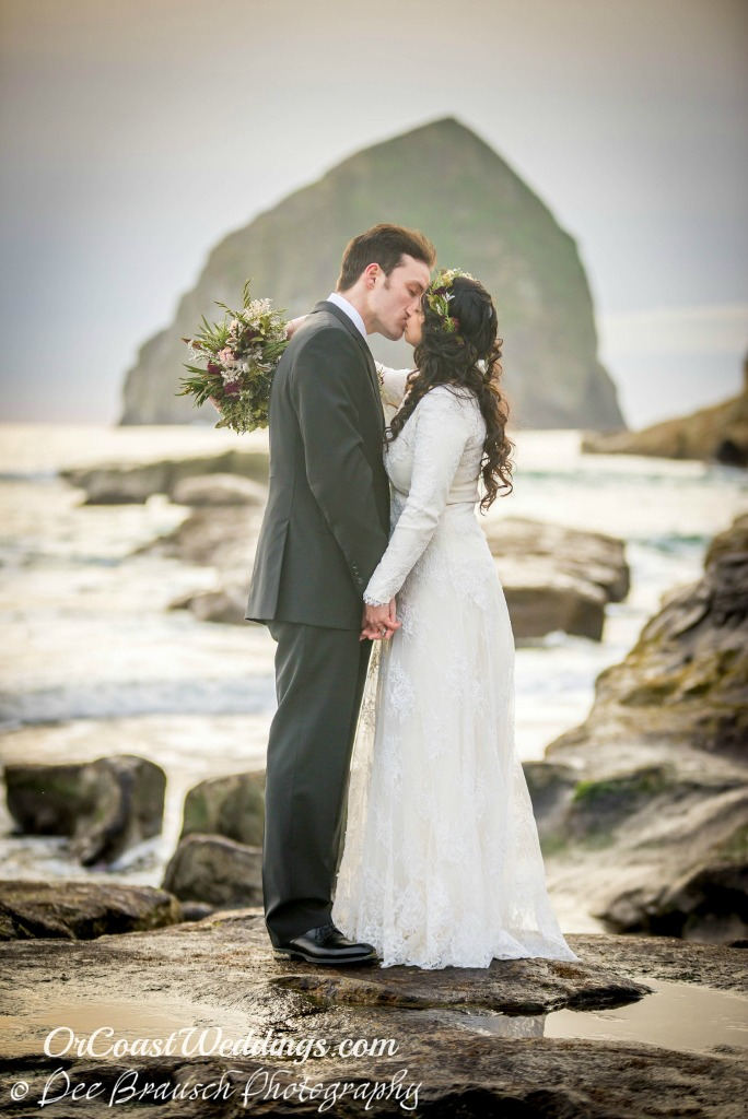 elope at Haystack Rock Pacific City