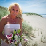 July 4th wedding at Bob Straub State Park, Pacific City