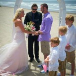 Our Officiant Ron performing a beach ceremony on the Oregon Coast