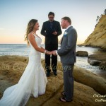 Oregon Coast Wedding Officiant, Ron Emineth performing ceremony in Pacific City