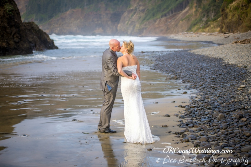A Kiss on Secret Beach for Jen & Jake's Elopement