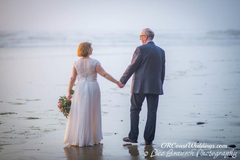 Micheal & Joann Walking Down the Beach in Oceanside
