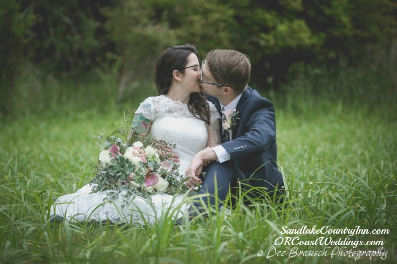Wedding pictures on the property at Sandlake Country Inn