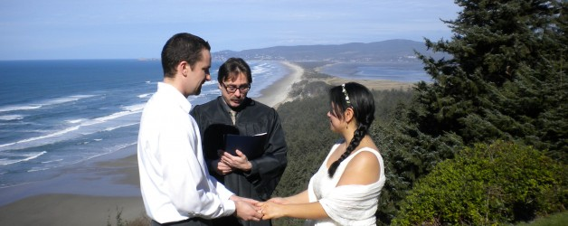 Oregon Coast Elopement at Anderson's Viewpoint